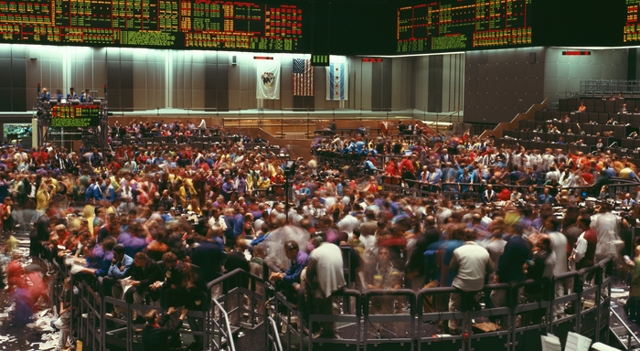Chicago Open Outcry Trading Floor
