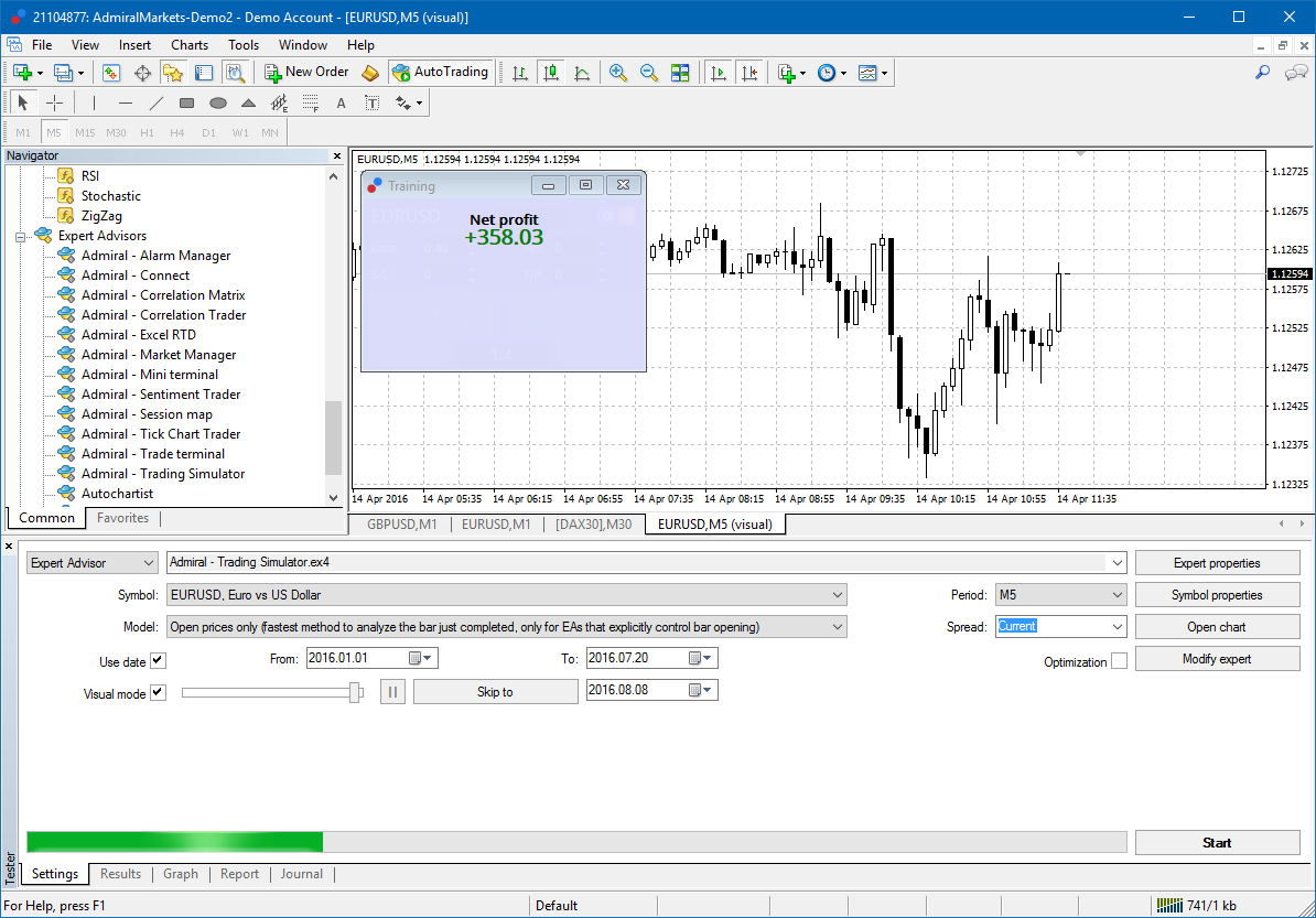 Option trading simulation game